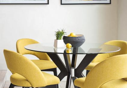 modern glass dining table and chairs