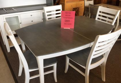 Heather Grey and White dining set