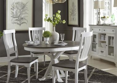 white dining room set