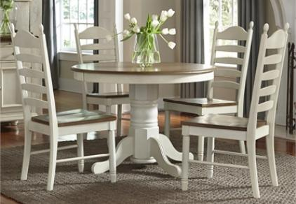 white round dining set