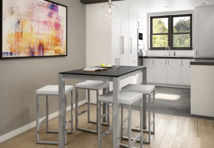 contemporary glass kitchen table