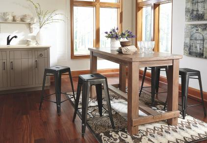 industrial counter height dining set