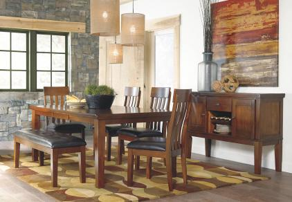 bench seating dining set