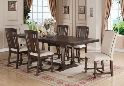 rustic formal gray dining set