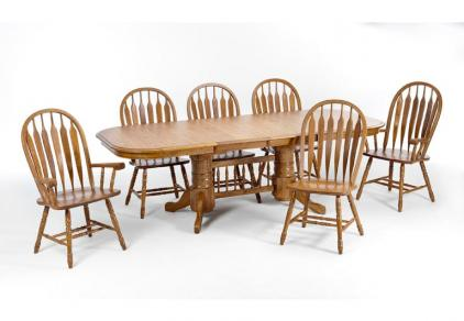 solid oak laminate dining set