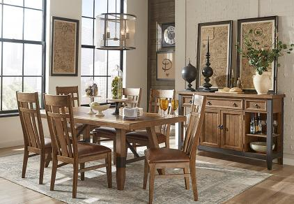 industrial rustic dining set