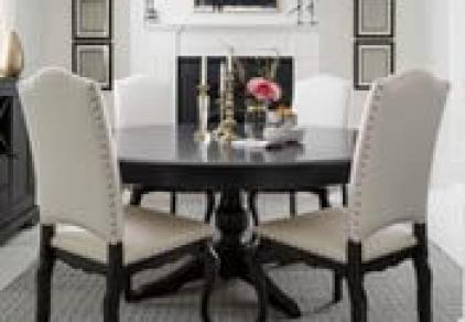 formal round dining table