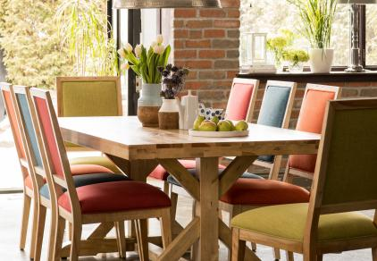 modern multicolor dining set