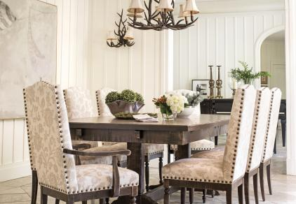 rustic formal dining room