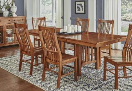 mission style oak dining