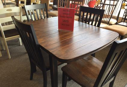 drop leaf rustic table