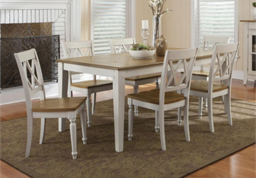 Two Tone Wood Finish Dining Furniture